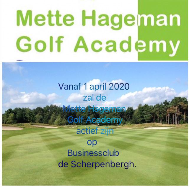 Mette Hageman Golf Academy verhuist naar Golf & Businessclub de Scherpenbergh
