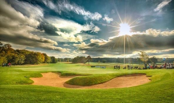Zomer op de golfbaan